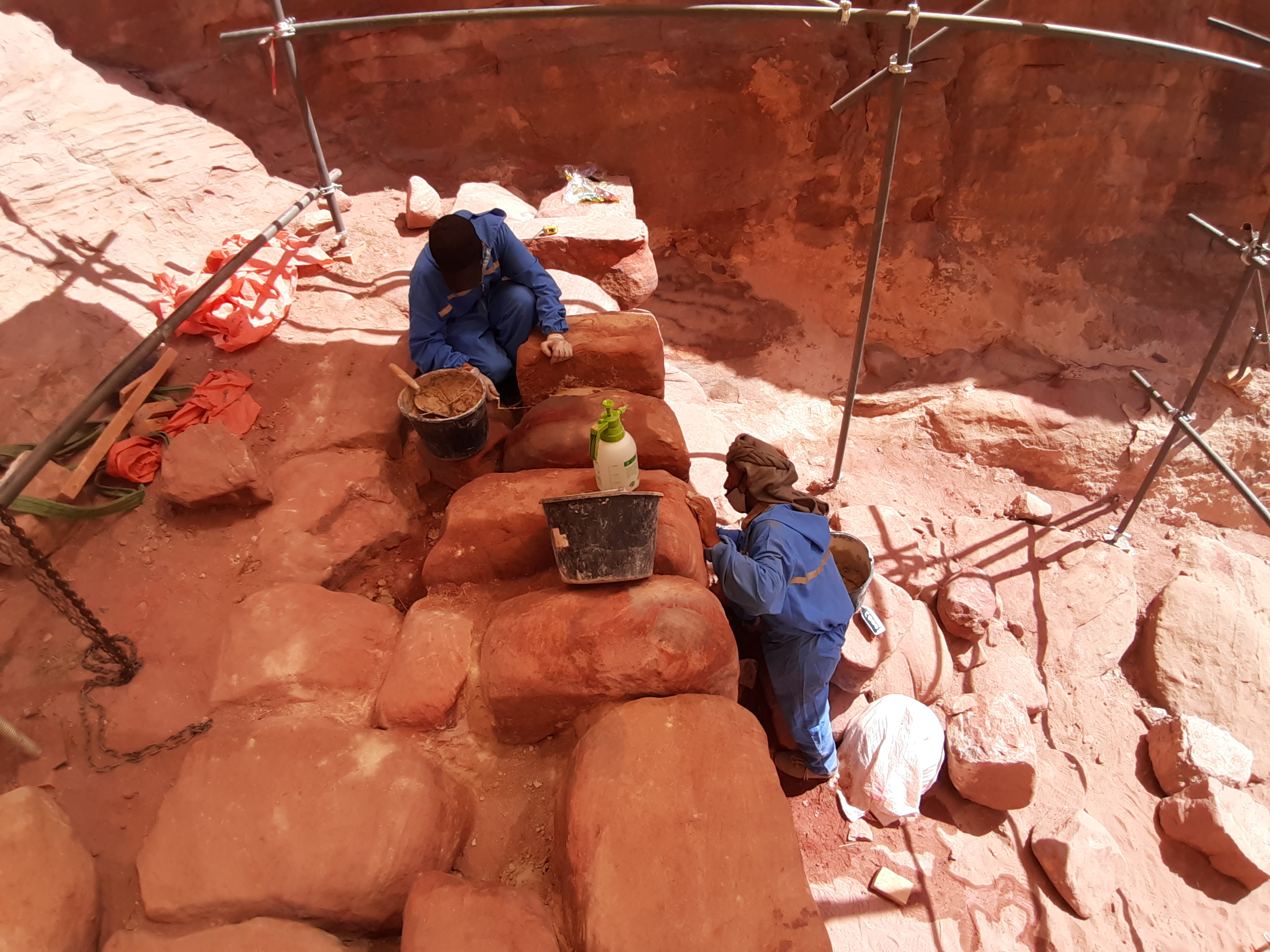 Innovative project creates inclusive job opportunities for heritage sites preservation during Covid-19 pandemic in Petra