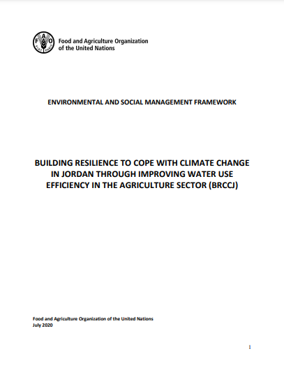 Building resilience to cope with climate change in Jordan through improving water use efficiency in the agriculture sector (BRCCJ)