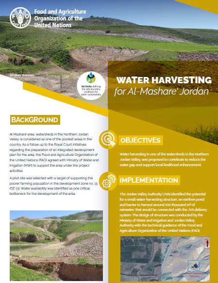 Water Harvesting for Al-Mashare' Jordan