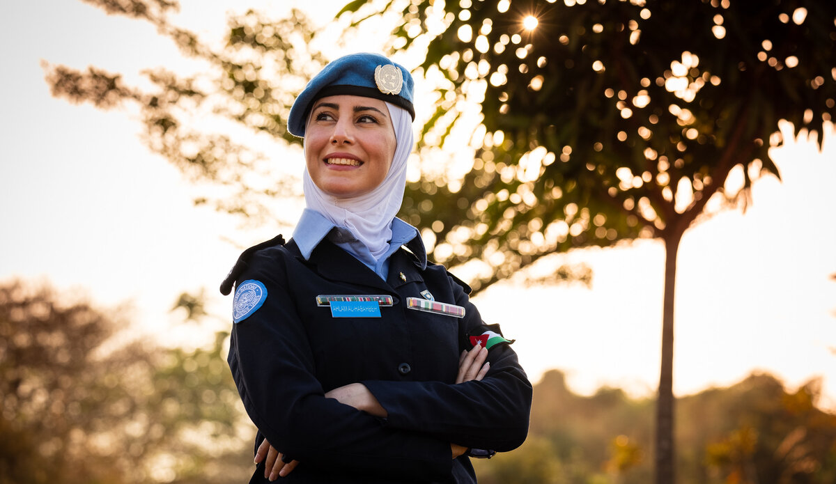 No profession is exclusive to either gender— UNPOL officer Ahlam Al-Habahbeh's message to young girls