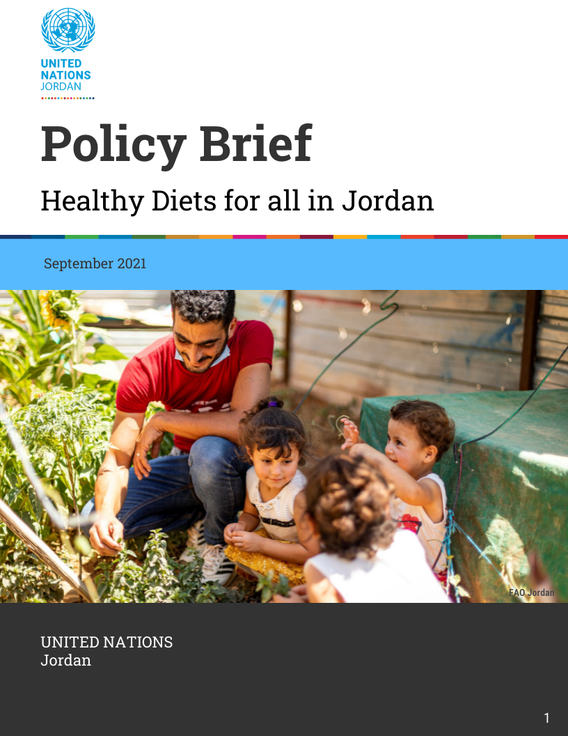 Policy Brief: Healthy Diets for all in Jordan