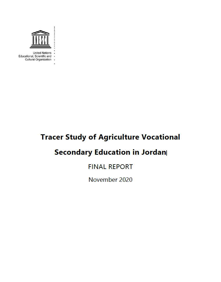 Tracer Study of Agriculture Vocational Secondary Education in Jordan