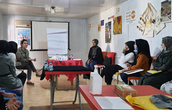 Girls from Zaatari Camp speaking out against conflict-related violence